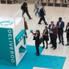 Commuters delighted by giant Deliveroo slot machine installed at Waterloo