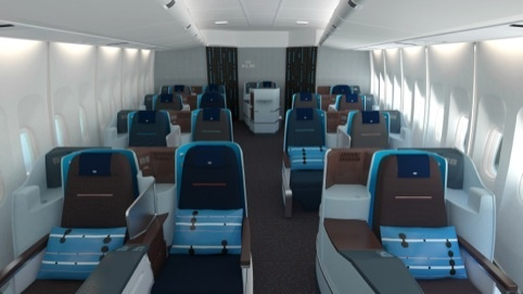 Hella Jongerius Designs KLM Business Class Cabins