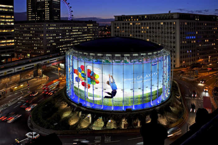 Samsung Galaxy S4 Marketing Campaign Takes Over London's IMAX Cinema
