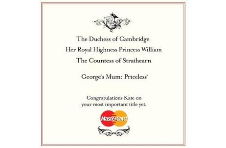 MasterCard's 'Priceless' Gets Royal Twist