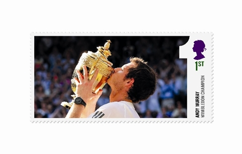 Hat-Trick Design creates stamps celebrating Murray's Wimbledon victory
