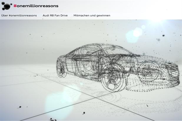Audi launches user-generated 3D microsite