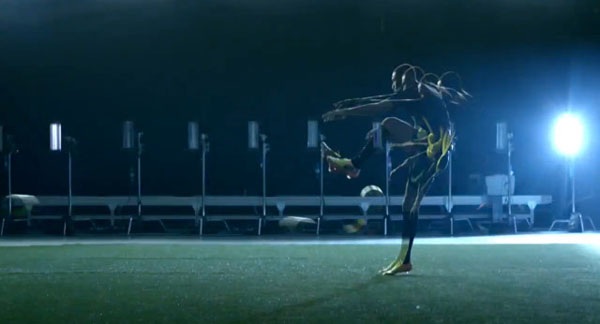 In Nike Ad, Famous Athletes Become A 'Human Printing Press'