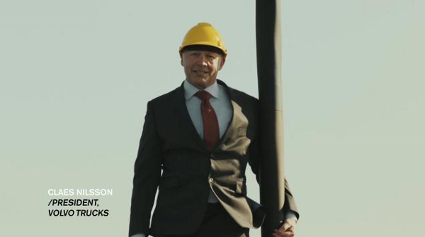 Volvo President Performs Daring Stunt For New Ad