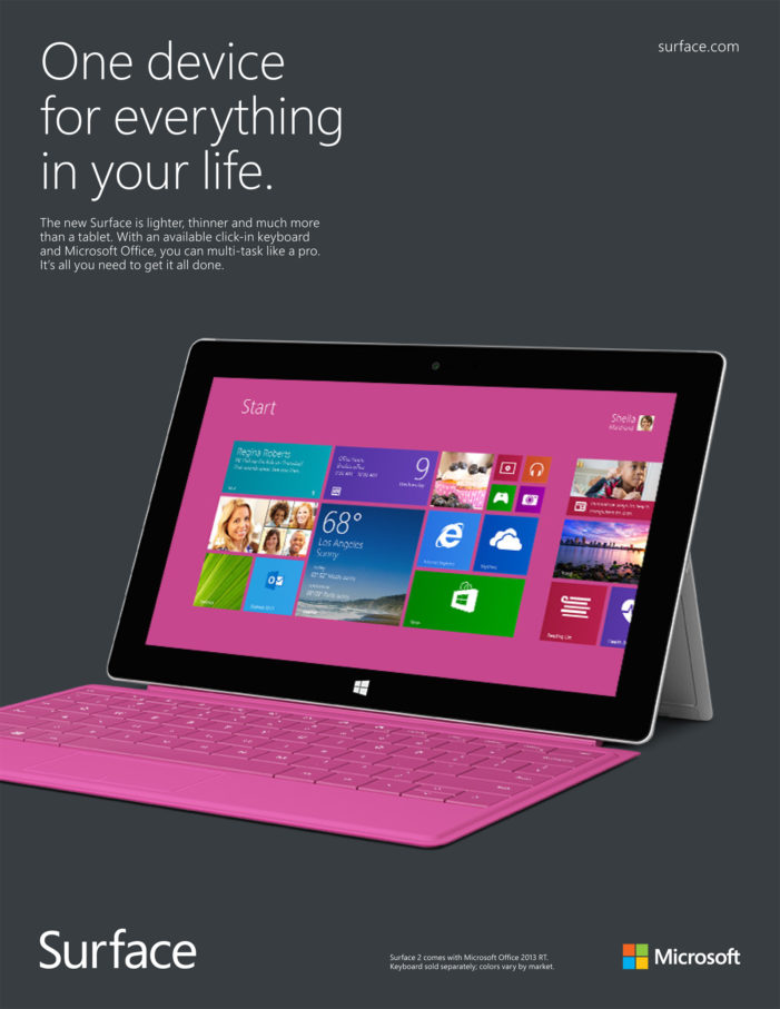 Exposure Lead Agency For Microsoft Surface 2 Campaign