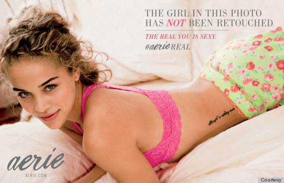 Empowering Lingerie Ads Feature Models Who Have Not Been Photoshopped