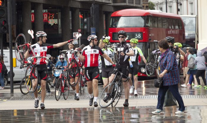 UKTV's Dave sends 'lost' cyclists around London as part of Tour stunt