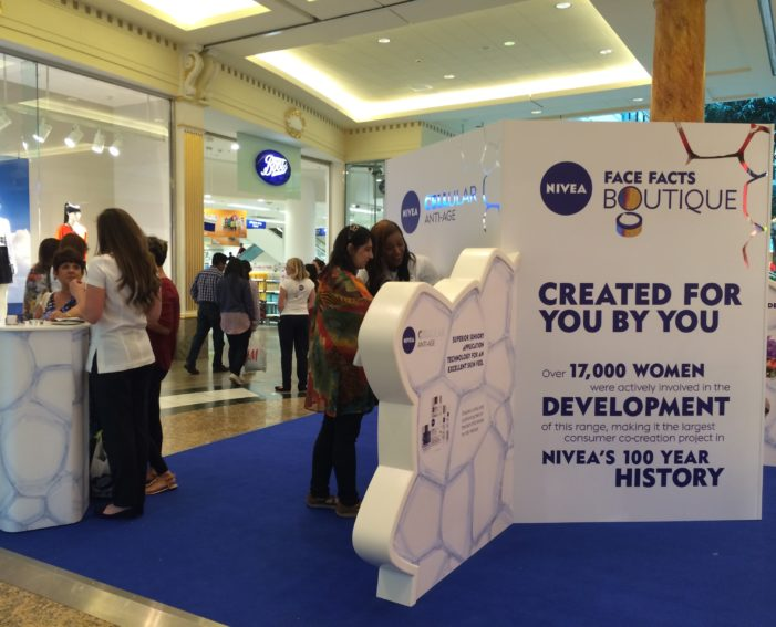 Space creates Face Facts Boutique for NIVEA