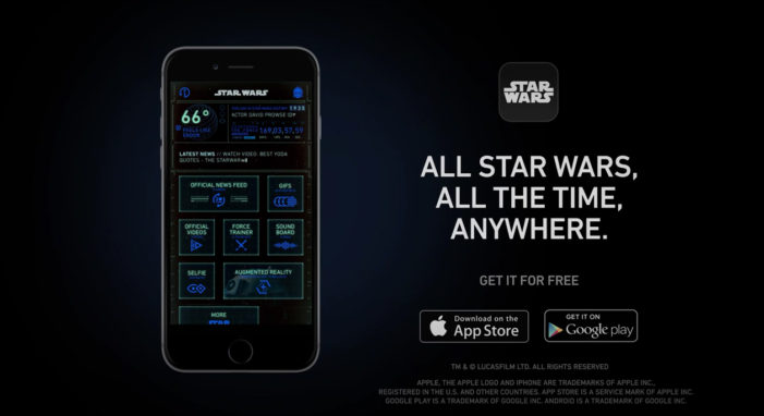 Disney ferments Force Awakens hype with official Star Wars app