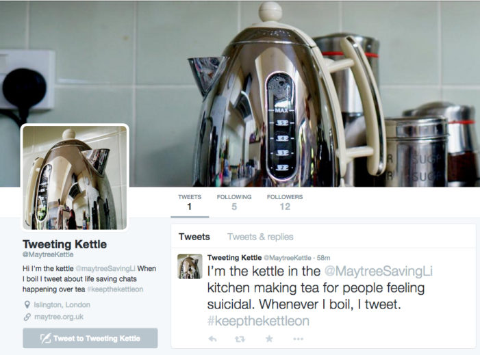 Cheil UK's tweeting kettle raises funds and awareness for charity Maytree