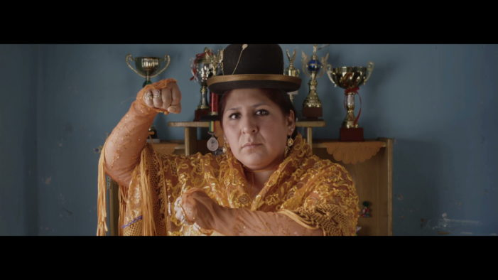 ChinChin, the wrestling cholita, is the main character in El Ojo 2015's new ad campaign
