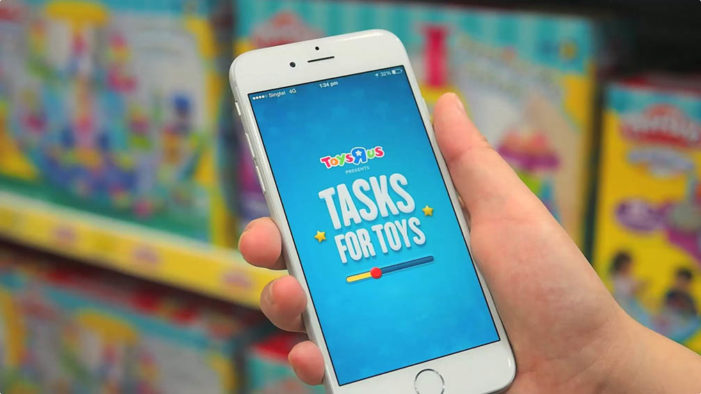 "Ogilvy Singapore and Toys ""R"" Us launch mobile app that gets kids to do their chores"