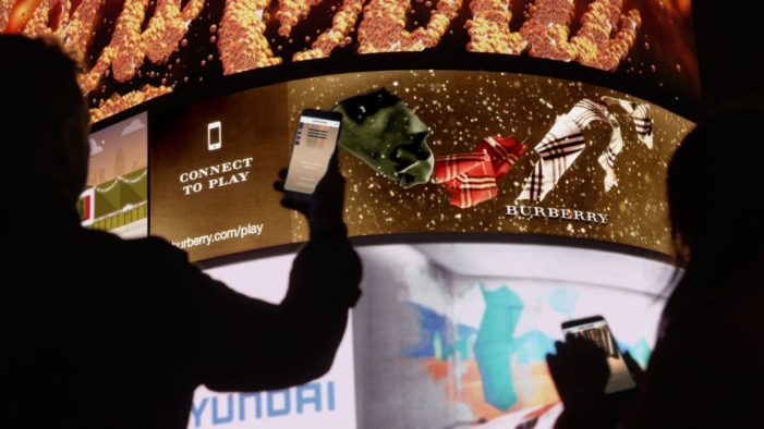 Burberry partners with DreamWorks for interactive OOH campaign
