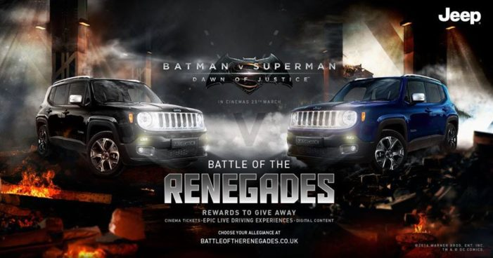 Jeep announced as executive car partner of Batman v Superman: Dawn of Justice