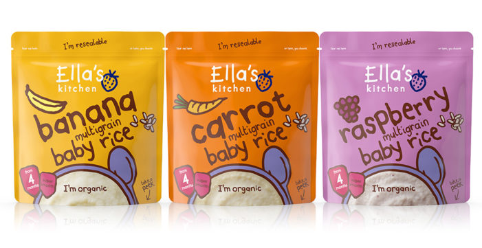 Biles Inc. focuses on clean, simple design to optimise the childlike qualities of Ella's Kitchen on the relaunch of their baby dry cereal range