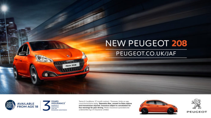Peugeot launches new Just Add Fuel campaign targeting millennials