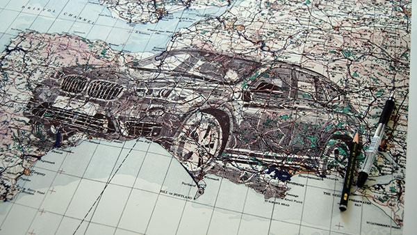 FCB Inferno & Illustrator Ed Fairburn Turn a Map Into Art for BMW