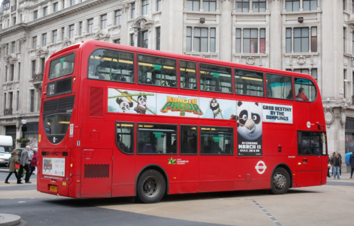 Exterion Media and Shazam Prepare Beacons on Buses for Kung Fu Panda 3