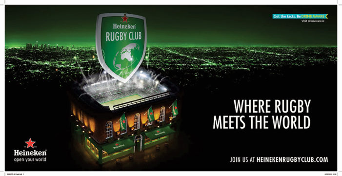 Heineken and Rothco give rugby fans a unique new way to enjoy the game by opening up their bespoke online Rugby Club