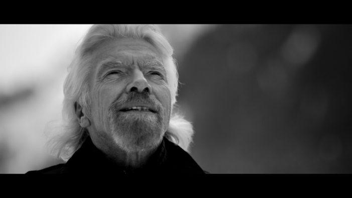 Richard Branson Treks Through the Snowy Alps to Launch 'VOOM'