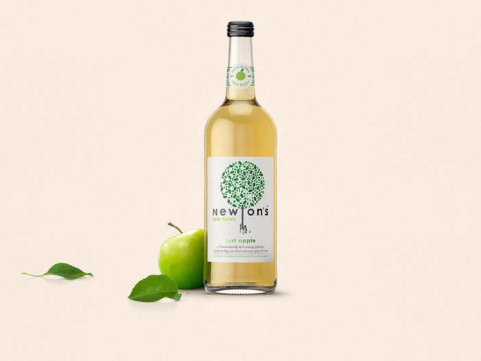 Newton's plucks inspiration from science with natural drink designed by Parker Williams