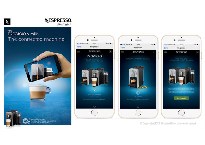 Shazam to Power Nespresso Campaigns for First ­Ever Connected Coffeemaker
