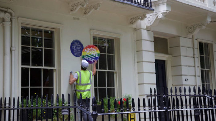 Proximity London take over Blue Plaques as part of Pride London