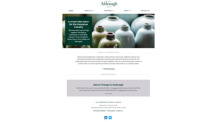Rufus Leonard creates new visual identity for new holding company, The Ardonagh Group