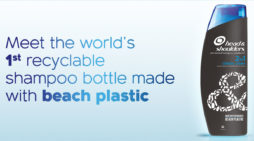 Head & Shoulders makes recyclable shampoo bottles out of beach plastic