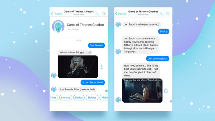 Catch Digital releases a Game of Thrones bot to coincide with the new season of the show
