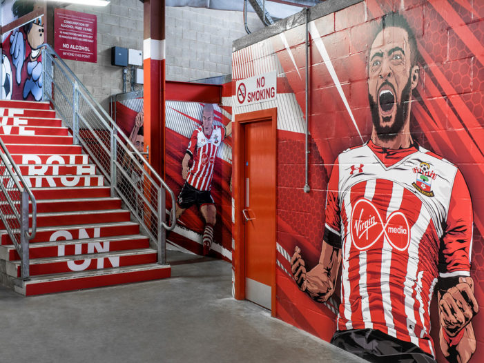WhiteHype help Southampton FC revamp the family concourse area at St Mary's Stadium