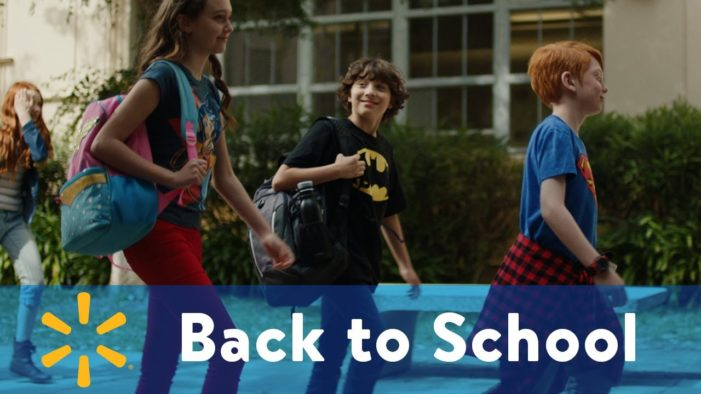 Saatchi & Saatchi NY help Walmart kick off their 'Back to School' campaign