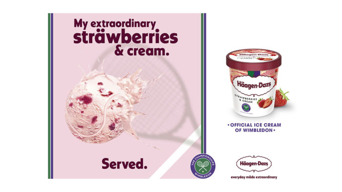 Häagen-Dazs Returns to SW19 with a Playful Twist on a Wimbledon Classic in its New 'Extraordinary Serve' Push