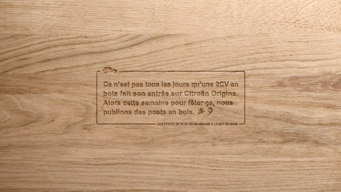 Citroën introduces a wooden 2CV car with new ad agency TRACTION