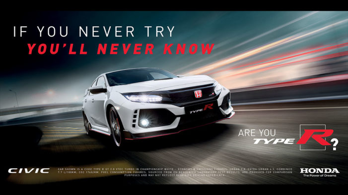 "Honda asks ""Are You Type R?"" in European launch campaign for new Civic by Southpaw"