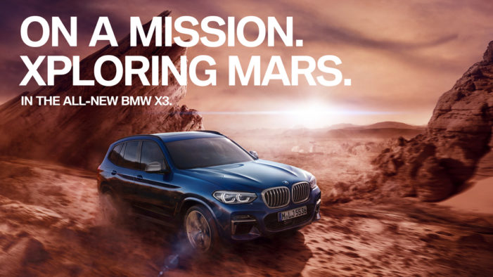 BMW teams with Serviceplan to take drivers to Mars for a virtual test drive