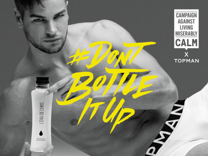 Chris Hughes joins Topman in launching #DontBottleItUp campaign by BMB for World Mental Health Day