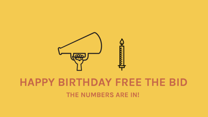 Free The Bid celebrate first anniversary with renewed support from major brands