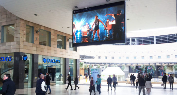 Limited Space extends digital Orbit network with new screen at intu Milton Keynes