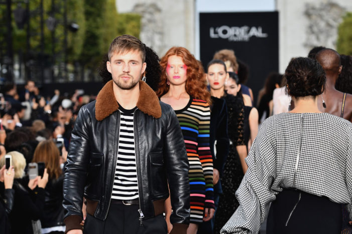 Relive L'Oréal's first fashion and beauty runway show on the Champs-Élysées