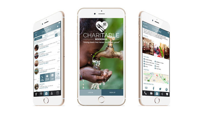 ChariTable Bookings unveils their app that gives back for free!