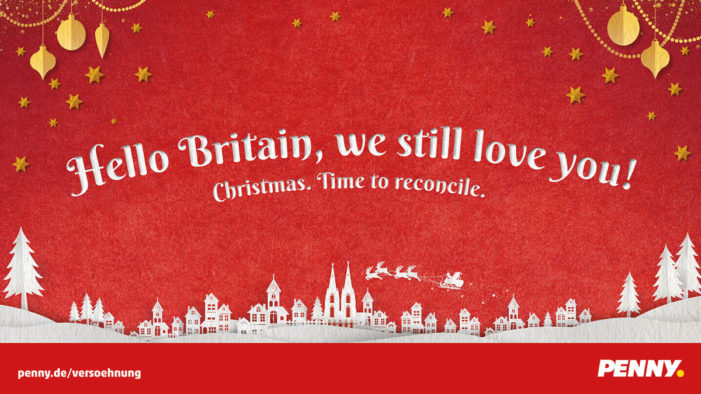 Supermarket chain PENNY encourage reconciliation at Christmas via Serviceplan Campaign