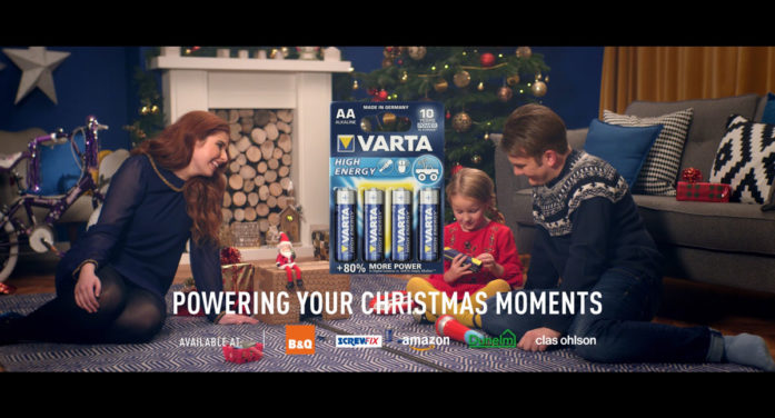 VARTA Batteries has its moment in the Christmas spotlight via Refinery