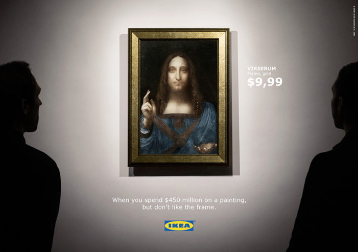 Ikea Had a Fun Response to the Sale of the World's Most Expensive Painting
