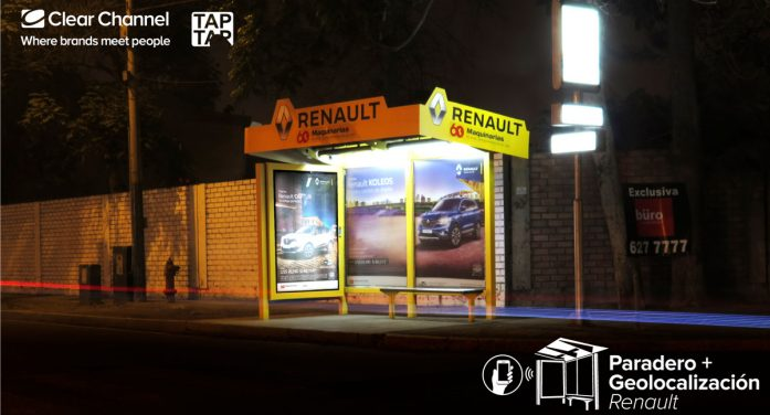Clear Channel and TAP TAP uses mOOHbile technology in whereabouts for Renault