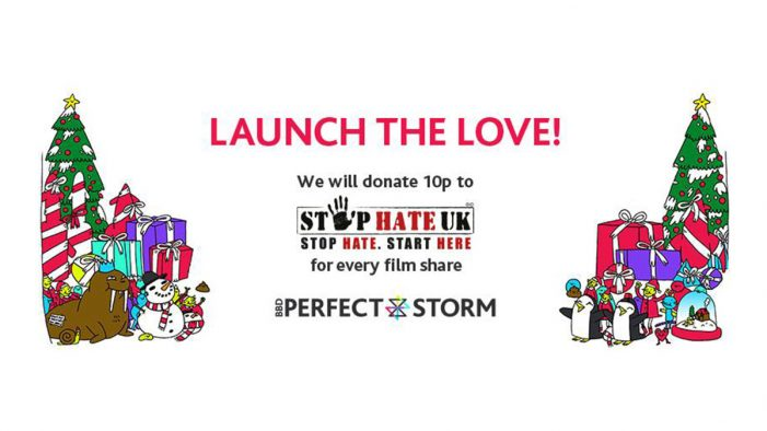 BBD Perfect Storm launches 'missile-toe' into space in Christmas campaign for Stop Hate UK