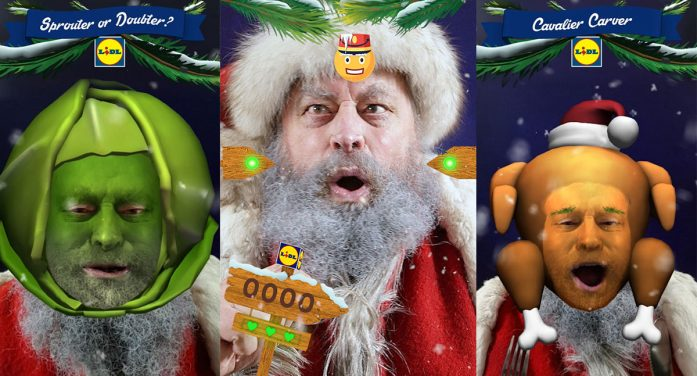 Lidl partners with Brian Blessed to launch the first game on Facebook Camera in the UK