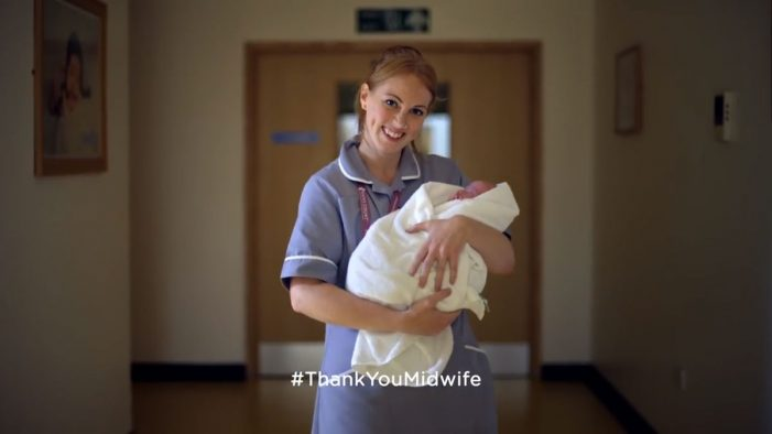 Pampers say #ThankYouMidwife in new campaign by Saatchi & Saatchi London