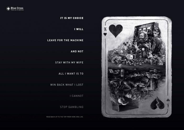Serviceplan create Blue Cross 'Reverse Poems' print campaign to address addiction