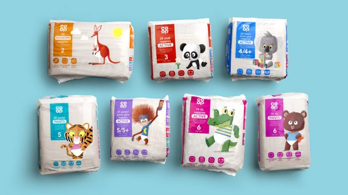 Robot Food brings new life to Co-op's baby care range